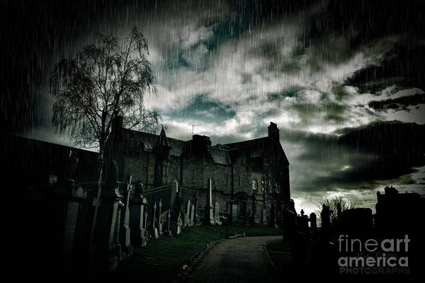 Cementery Photograph - Rainy Night by John Griffiths