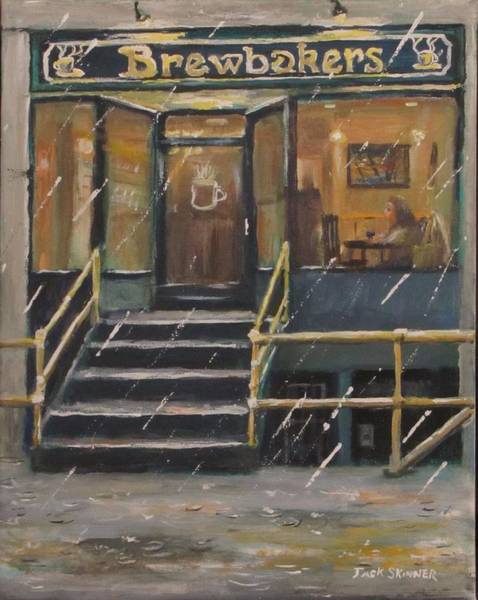 Wall Art - Painting - Rainy November Afternoon Coffee by Jack Skinner