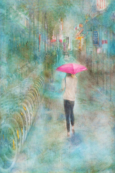 Digital Art - Rainy In Paris 3 by Ramona Murdock