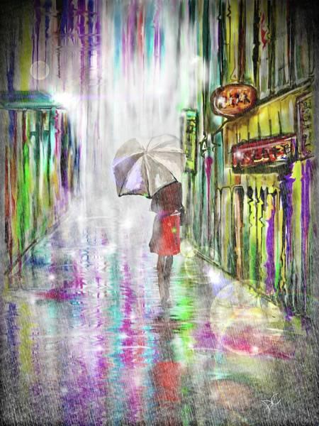Digital Art - Rainy Paris Day by Darren Cannell