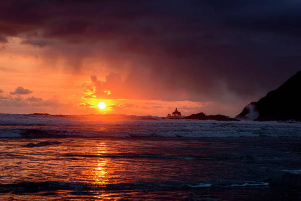Photograph - Rainy Sunset by Robert Potts