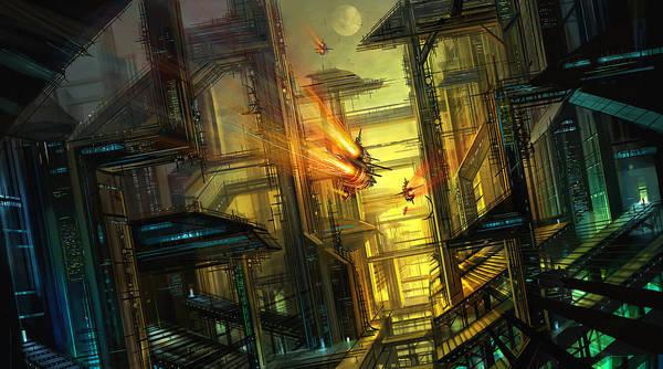 Space Ship Mixed Media - Raison Detre by Philip Straub