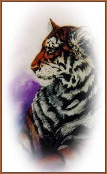 Bengal Tiger Drawing - Raja by Toni Pocaro