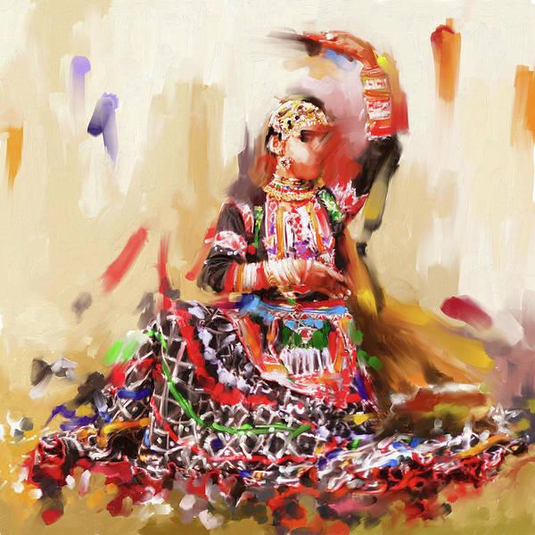 Culture Painting - Rajasthani Dancer 436 1 by Mawra Tahreem