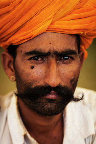 Photograph - Rajasthani Man, Pushkar, India by Mahesh Balasubramanian