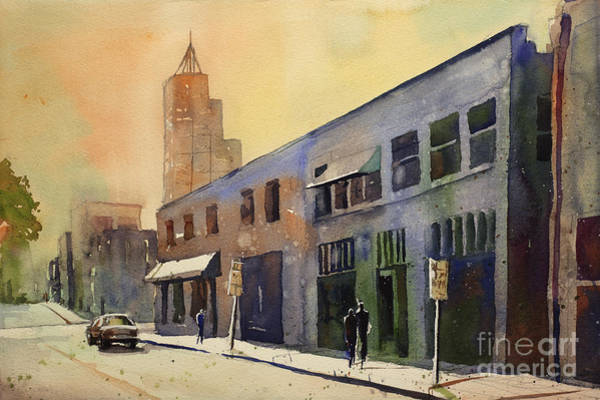 Downtown Raleigh Wall Art - Painting - Raleigh Art District by Ryan Fox
