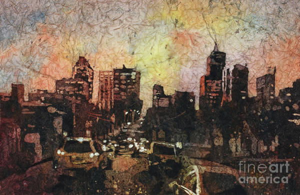 Wall Art - Painting - Raleigh At Night by Ryan Fox