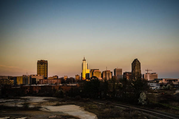 Downtown Raleigh Wall Art - Photograph - Raleigh Skyline At Sunset by Anthony Doudt