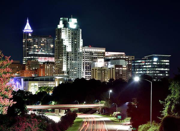 Downtown Raleigh Wall Art - Photograph - Raleigh Skyline  by Brendan Reals