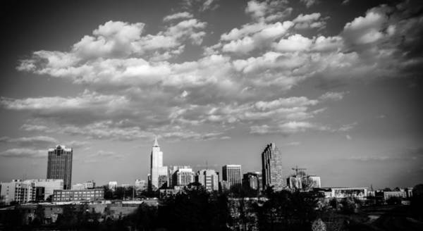 Downtown Raleigh Wall Art - Photograph - Raleigh Skyline In Black And White by Anthony Doudt