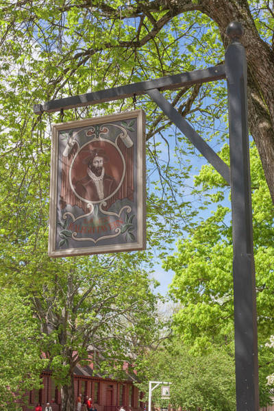 Wall Art - Photograph - Raleigh Tavern Sign by Teresa Mucha