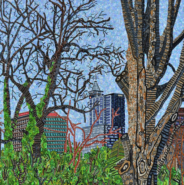 Wall Art - Painting - Raleigh - View From Chavis Park by Micah Mullen