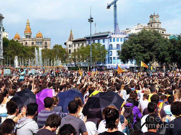 Photograph - Barcelona Rally October 2nd 2017 by John Rizzuto