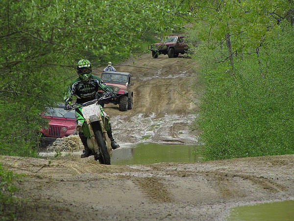 Dirt Bike Photograph - Rally Race by Scott Hovind