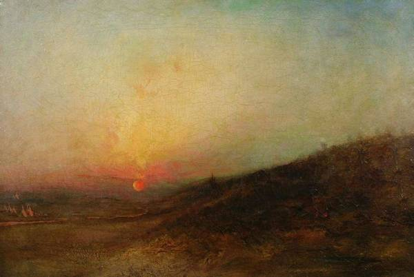 Painting - Ralph Albert Blakelock  1847  1919  Indian Encampment At Sunset by Artistic Panda