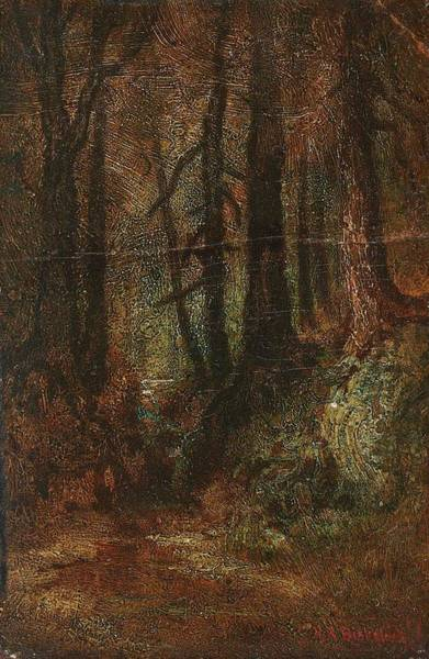 Painting - Ralph Albert Blakelock  1847  1919  Woodland Stream by Artistic Panda
