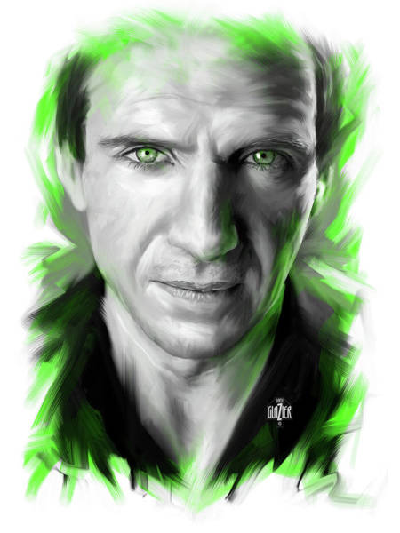 Wall Art - Digital Art - Ralph Fiennes As Lord Voldemort by Garth Glazier
