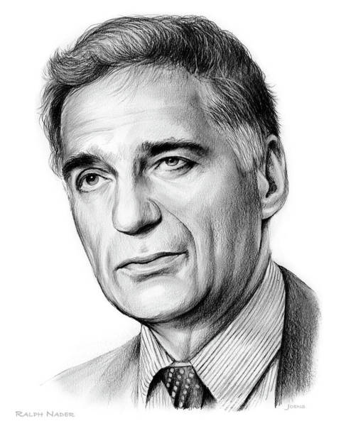 Political Wall Art -  - Ralph Nader by Greg Joens