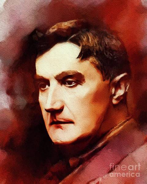Wall Art - Painting - Ralph Vaughan-williams, Famous Composer by John Springfield
