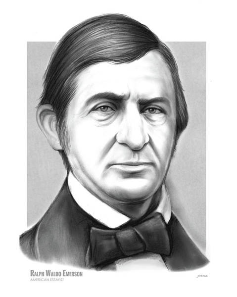 American History Drawing - Ralph Waldo Emerson by Greg Joens