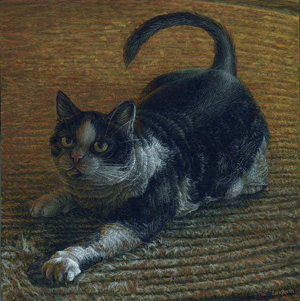 Fat Cat Painting - Ralphie by Cara Bevan