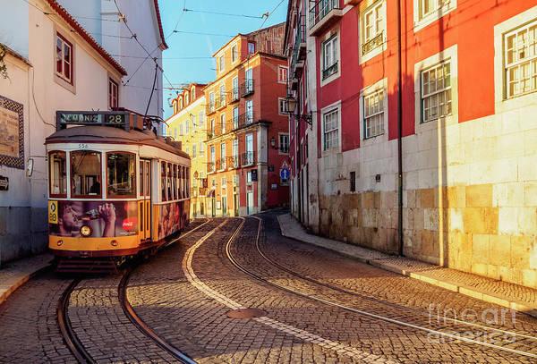 Carris Photograph - ram number 28 in Alfama, Lisbon, Portugal by Karol Kozlowski