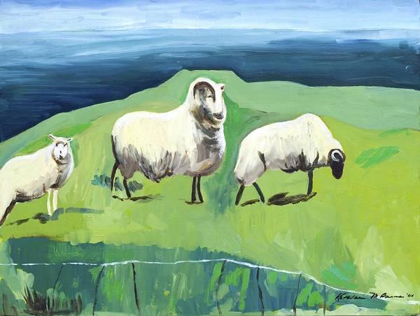 Ram On A Hill Art Print