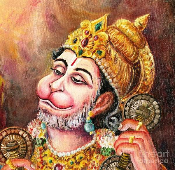 Hindu Goddess Wall Art - Painting - Rama Naama Japo by Murali
