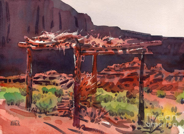 Monument Valley Painting - Ramada by Donald Maier