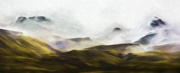 Iceland Digital Art - Ramble Thru The Mountains IIi by Jon Glaser
