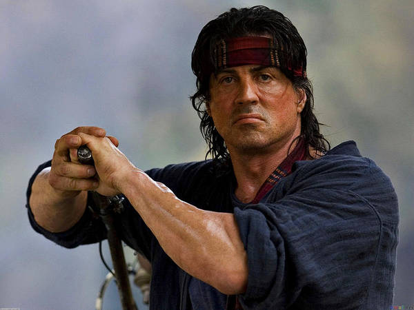 Photograph - Rambo Sylvester Stallone by Movie Poster Prints