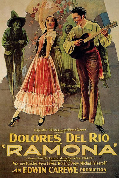Wall Art - Painting - Ramona, Mexican Girl, Western Movie, Poster by Long Shot