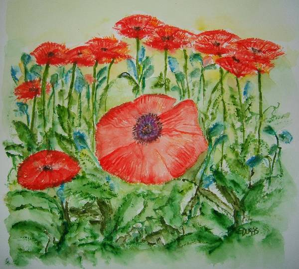 Wall Art - Painting - Ramonas Poppies by Elaine Duras