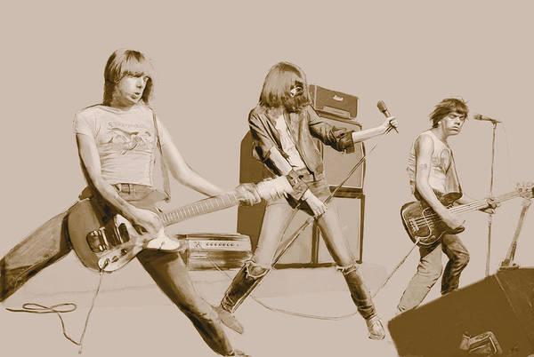Punk Rock Digital Art - Ramones by Kurt Ramschissel