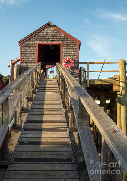 Photograph - Ramp And Shed, Rockport Harbor, Maine #80490 by John Bald