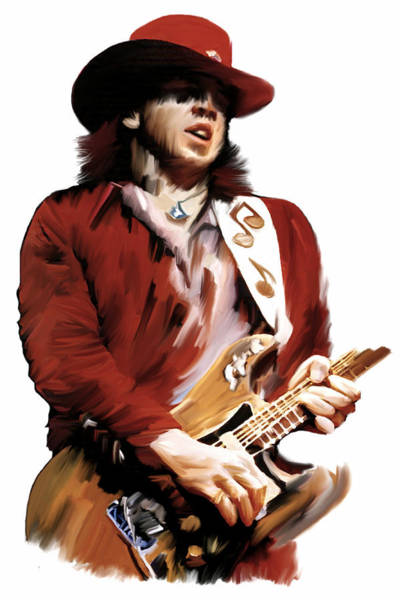 Painting - Rampage  Stevie Ray Vaughan by Iconic Images Art Gallery David Pucciarelli