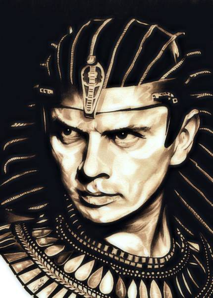 Sephora Wall Art - Drawing - Ramses II by Fred Larucci
