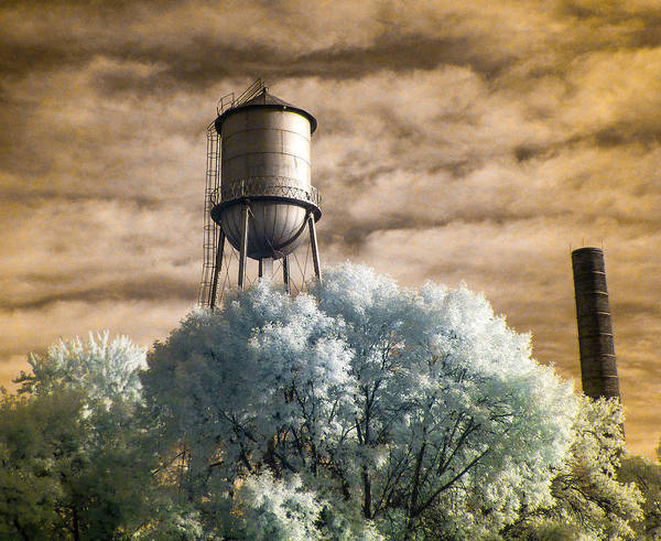 Photograph - Ramsey County Water Tower  by Scott Lacey