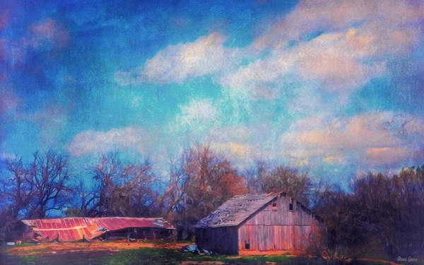 Photograph - Ramshackle Barns by Anna Louise