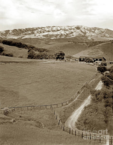Photograph - Ranch And Mount Toro by California Views Archives Mr Pat Hathaway Archives