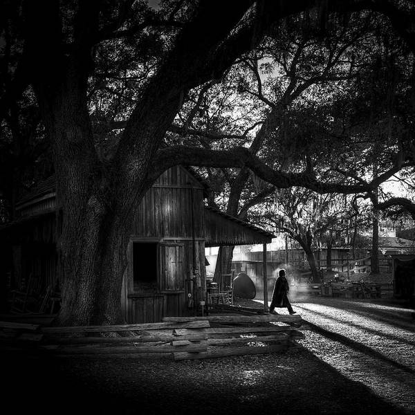 Horse Farm Photograph - Ranch Hand Bw by Marvin Spates
