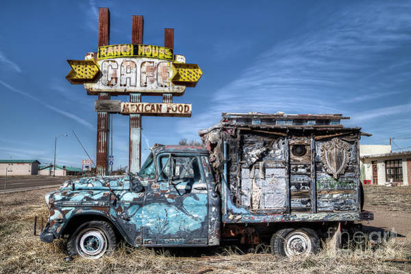 Wall Art - Photograph - Ranch House Truck On Route 66 by Twenty Two North Photography
