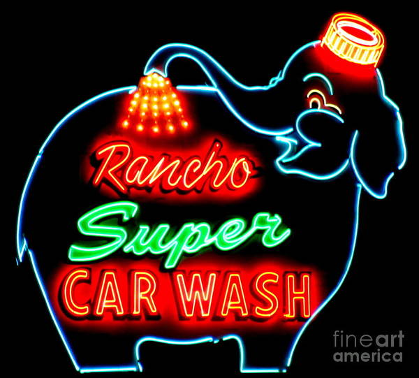 Car Wash Photograph - Rancho Car Wash by Randall Weidner