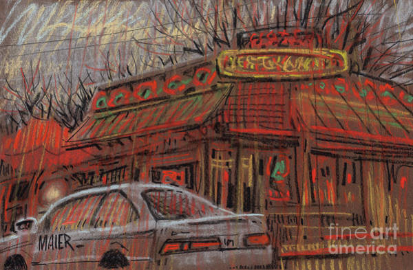 Neon Drawing - Rancho Grande by Donald Maier