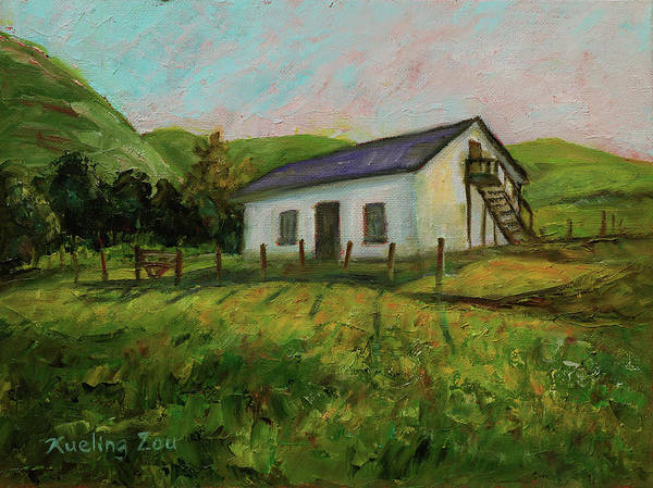 Painting - Rancho Higuera Historical Park Fremont California Landscape 15 by Xueling Zou