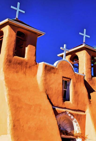 Digital Art - Ranchos De Taos Church by Charles Muhle