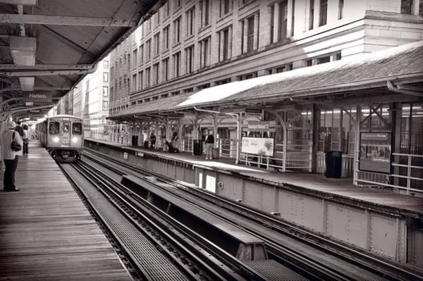 Commute Photograph - Randolph Street Station Chicago by Steve Gadomski