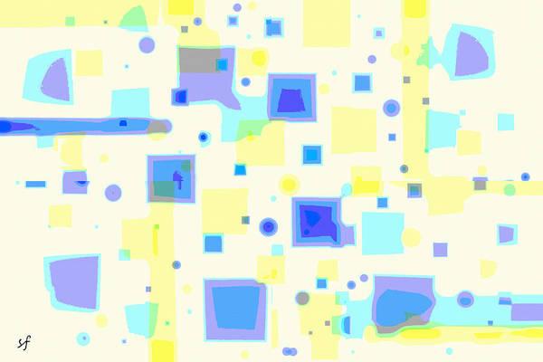 Digital Art - Random Blips by Shelli Fitzpatrick