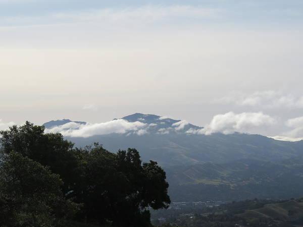 Mt. Diablo Wall Art - Photograph - Random Clouds by Suzanne Leonard