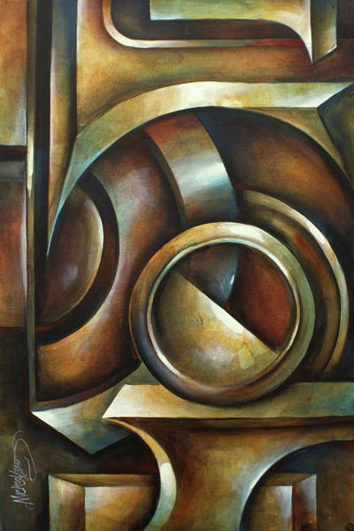 Wall Art - Painting - Random Containment by Michael Lang